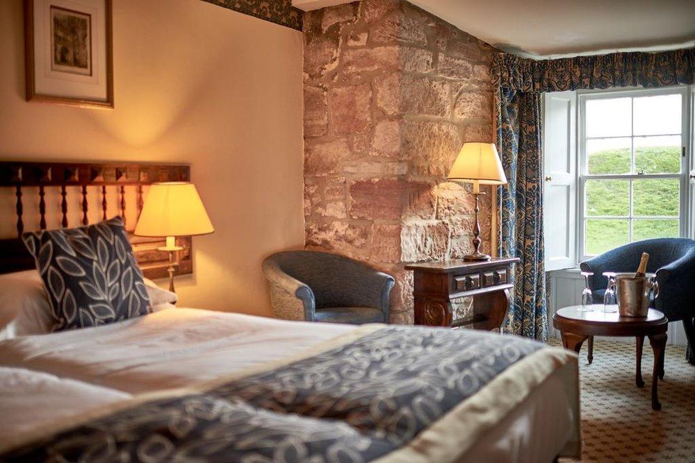 Light streaming in the bedroom Dalhousie Castle | EAT.PRAY.MOVE Yoga | Edinburgh, Scotland