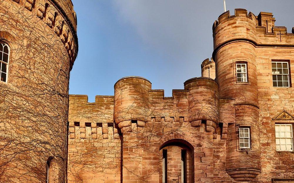 Ancient stone Dalhousie Castle | EAT.PRAY.MOVE Yoga | Edinburgh, Scotland