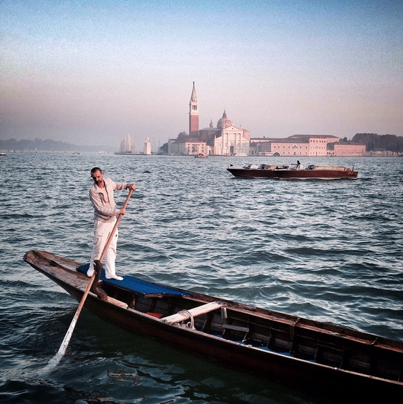 Gondolier in the Ocean EAT.PRAY.MOVE Yoga | Venice, Italy