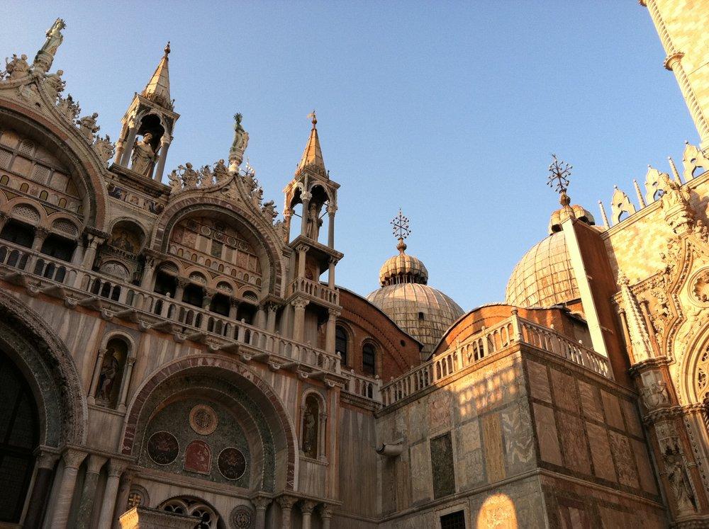 St. Marks' Basilica from an angle EAT.PRAY.MOVE Yoga | Venice, Italy