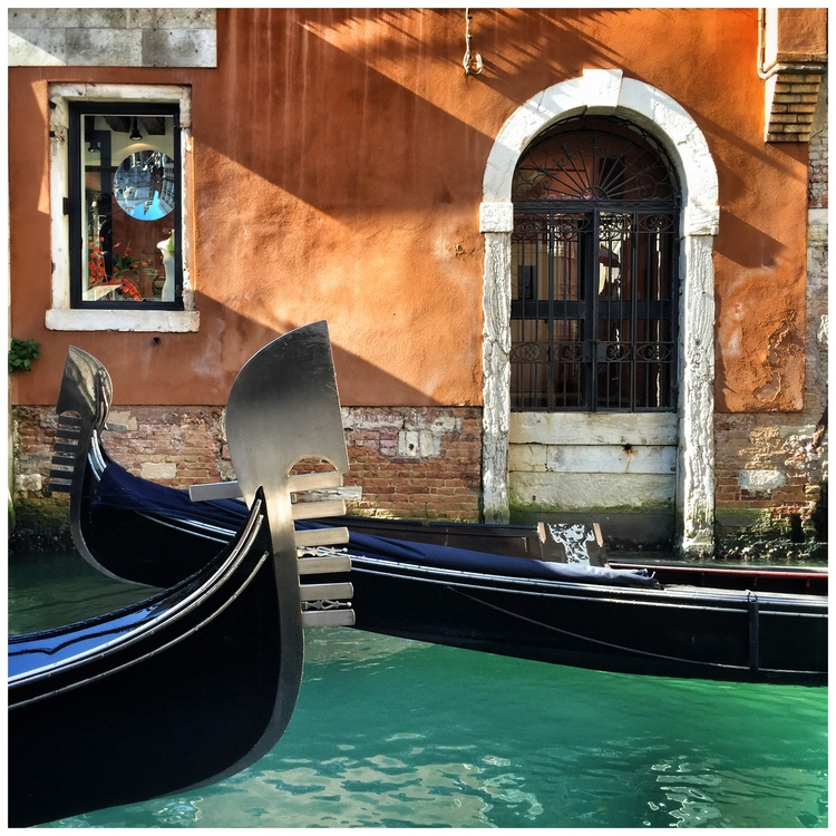 Art photo - Terracotta wallks, blue water EAT.PRAY.MOVE Yoga   Venice, Italy