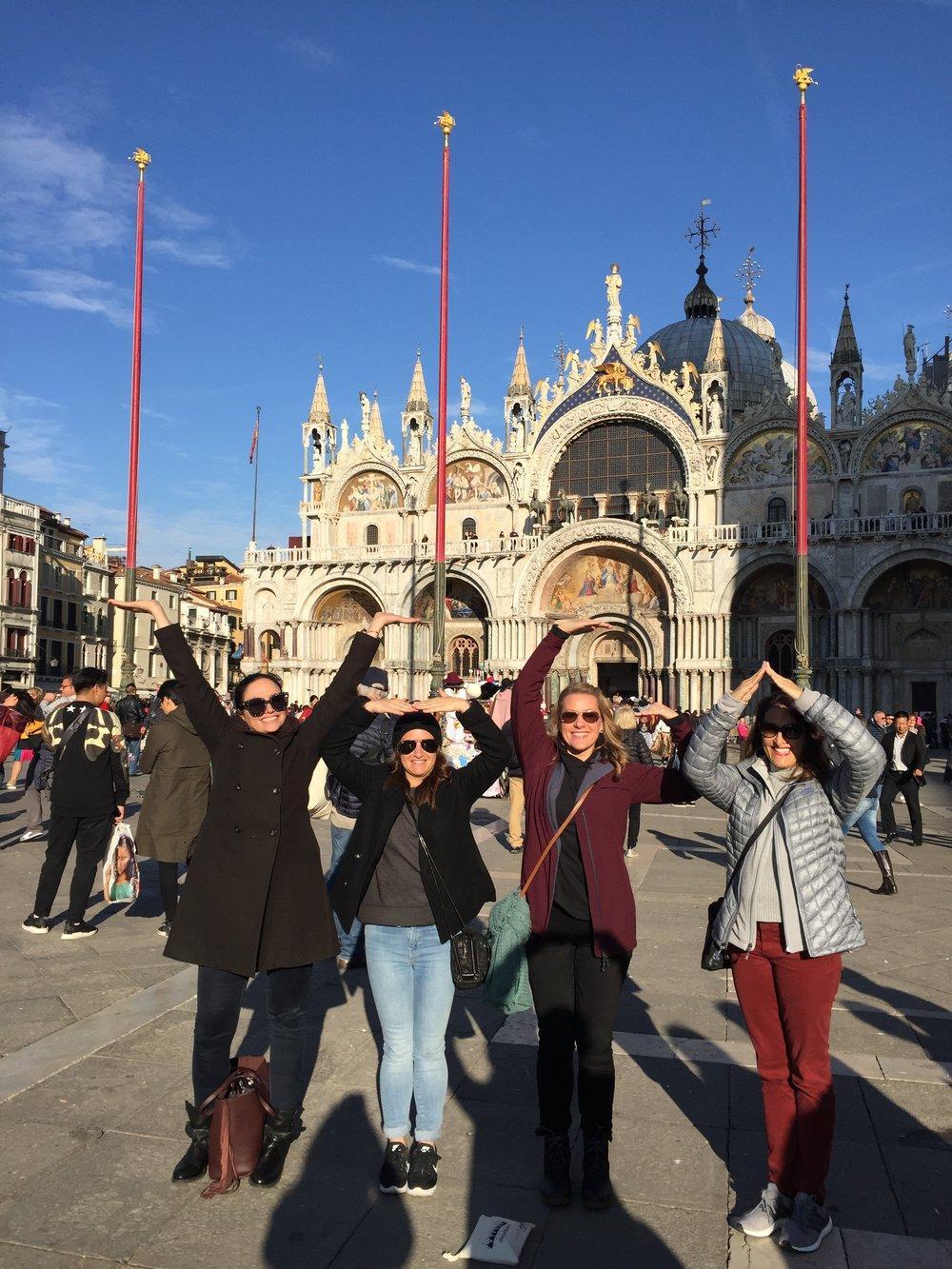 Y.O.G.A  in St. Mark's Square EAT.PRAY.MOVE Yoga   Venice, Italy