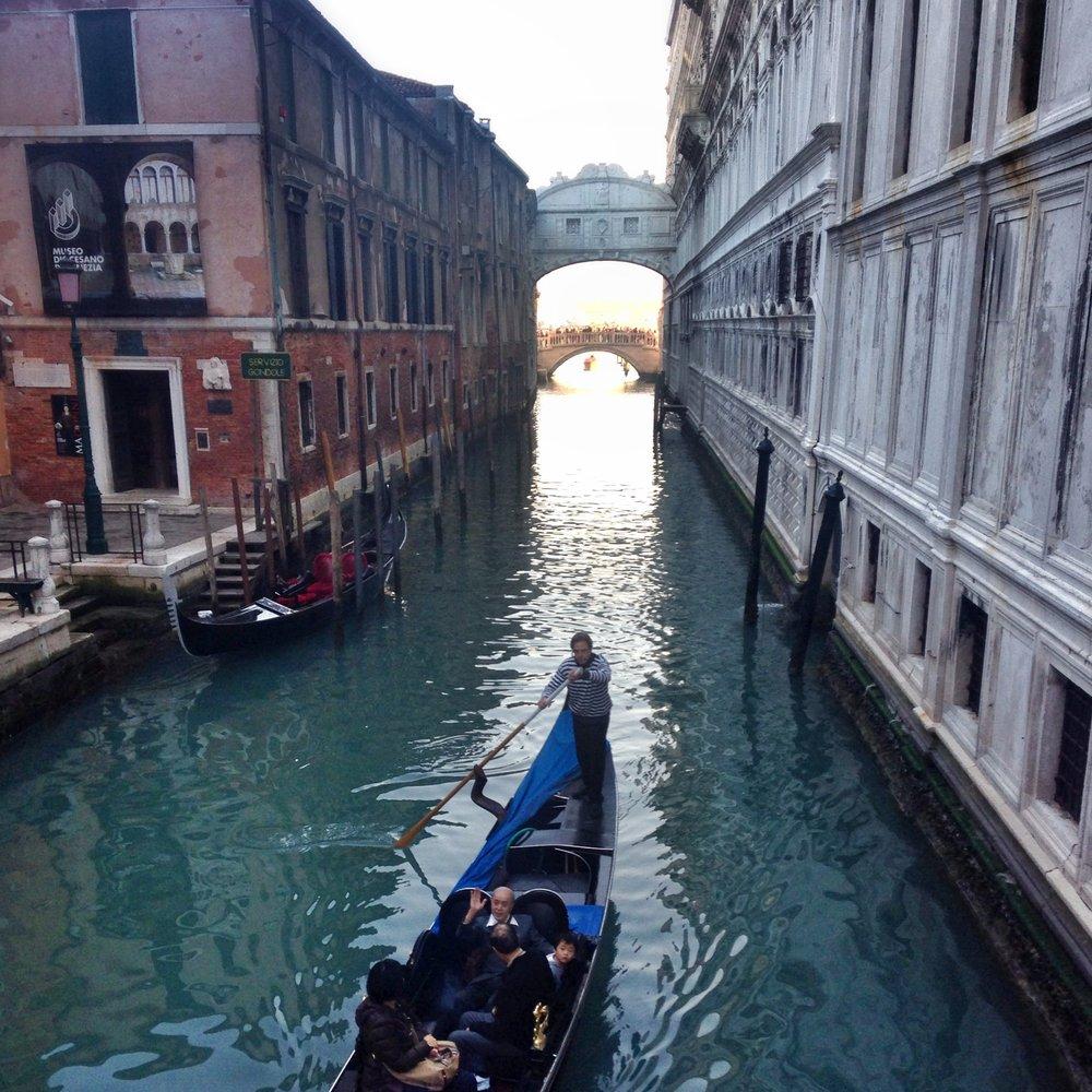 Gondola by the Bridge of Sighs EAT.PRAY.MOVE Yoga | Venice, Italy