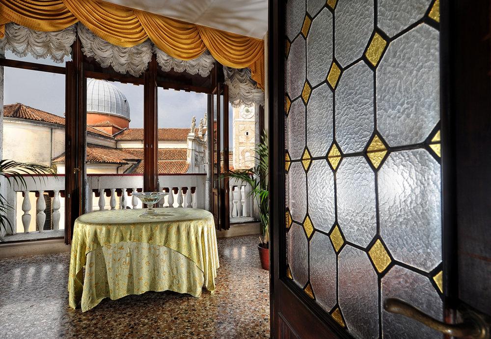 Balcony view Palazzo Vitturi EAT.PRAY.MOVE Yoga   Venice, Italy