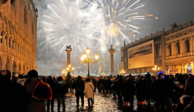 Fireworks at Piazza San Marco EAT.PRAY.MOVE Yoga | Venice, Italy