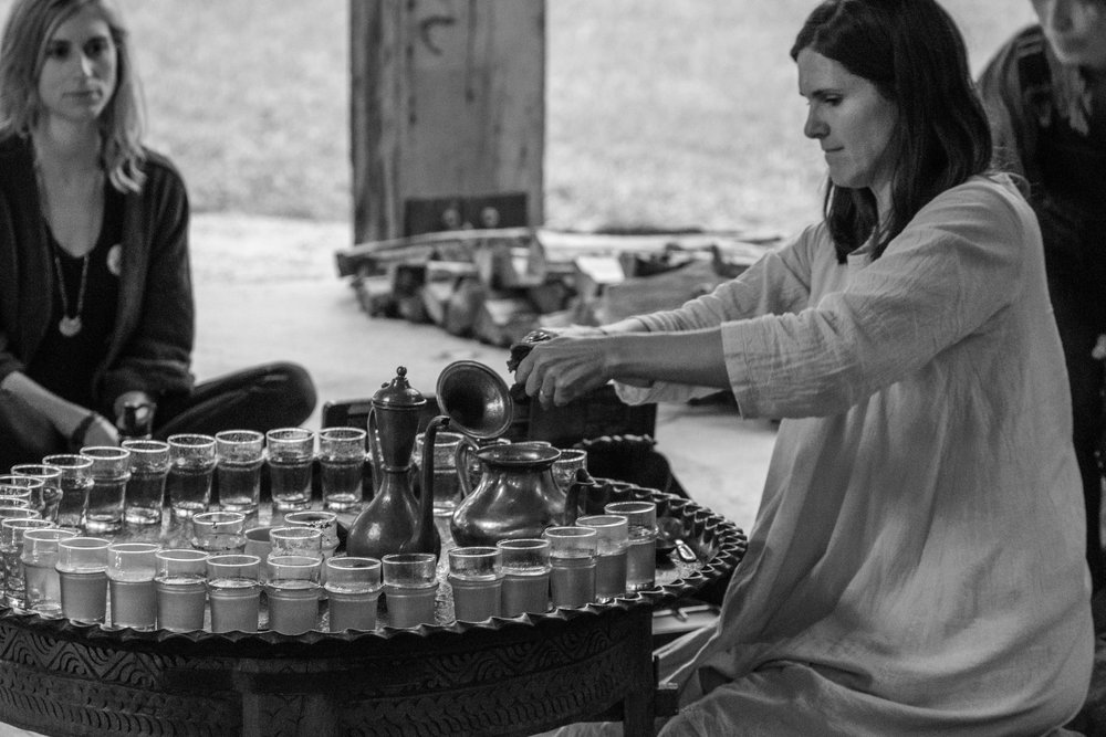 Tea rituals with Sarah EAT.PRAY.MOVE Yoga Retreats | Marrakesh, Morocco