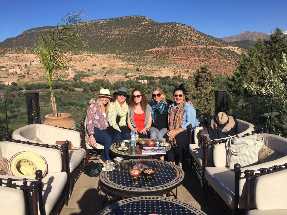 group in Atlas Mountains - Kasbah Tamadot | EAT.PRAY.MOVE Yoga Retreat | Marrakesh, Morocco