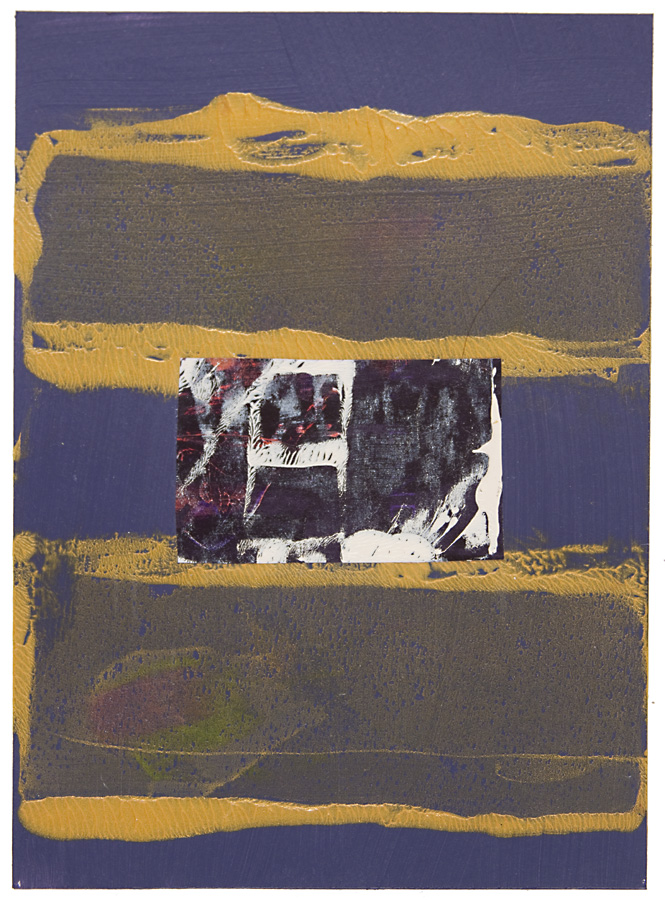 AZ#119 , acrylic and mixed media on paper, 2015, 7 x 5 in.