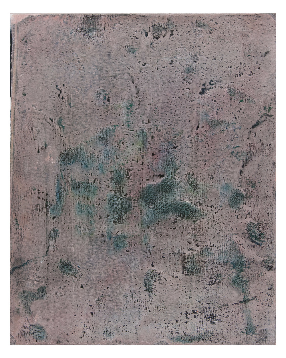 AZ#397 , acrylic and mixed media on paper, 2015, 10 x 8 in.