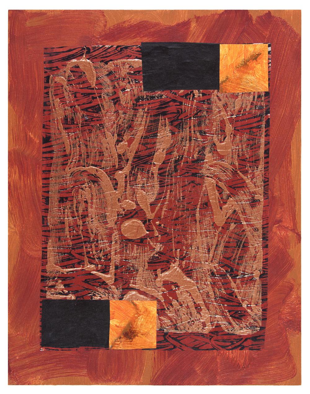 Sedona , acrylic and mixed media on panel, 2015, 14 x 11 in.