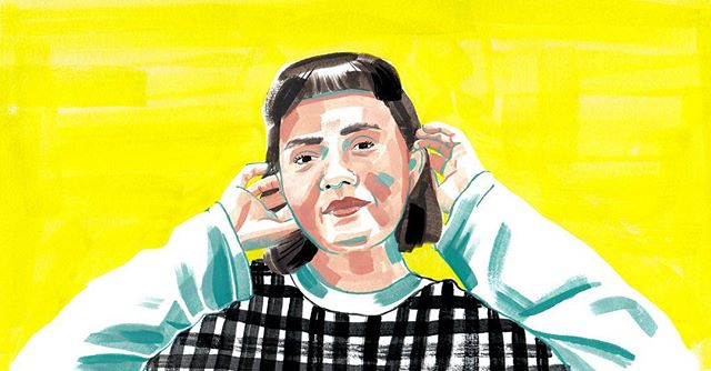 "You mightn't think someone like @frances_cannon would ever produce work they hate. But she does—and she believe it's all part of the experience of being a creative person. . ""[I] always have moments of self-doubt. You look at a painting you've made or a song you've written or whatever and you're like, 'Oh, it's terrible!'"" . Link to interview in bio. Illustration by @joanapartyka."