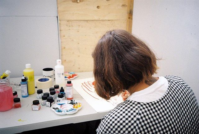 @frances_cannon in her element 🎨 Link to interview in bio #35mmfilm