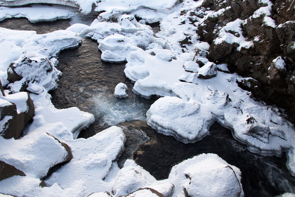 Frozen Stream, Thingvellir, Iceland
