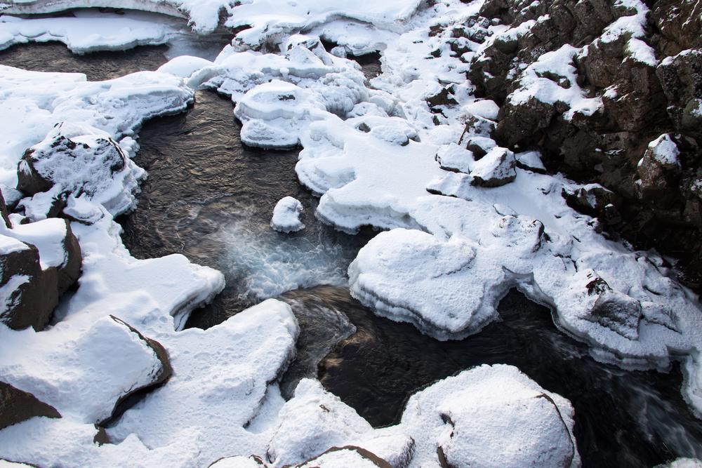 Frozen Stream, Thingvellir, Iceland