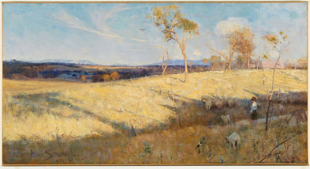 Arthur Streeton,Golden Summer, Eaglemont, 1889 Oil on canvas 81.3 × 152.6 National Gallery of Australia, CanberraPurchased 1995 © National Gallery of Australia, Canberra