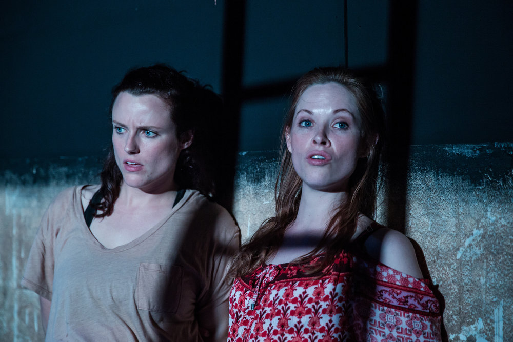 Emma Playfair as Elma (left) Lily Newbury-Freeman as Nancy (right) Food, by Steve Rodgers. Photo Credit: The Other Richard