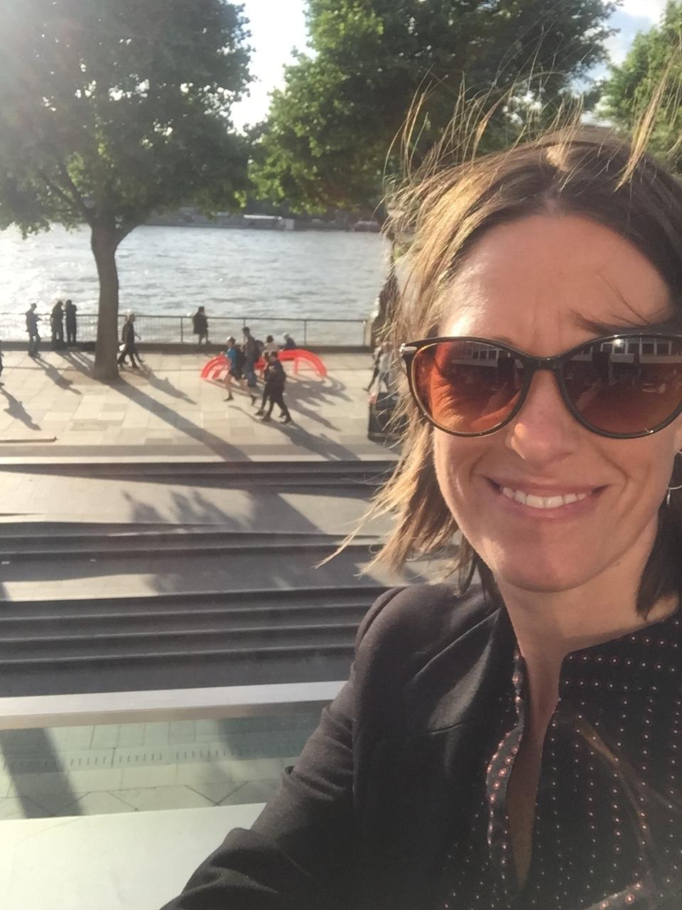 Dr Jody Gunn on Southbank, London,2017. Photo Credit: Bush Heritage Australia