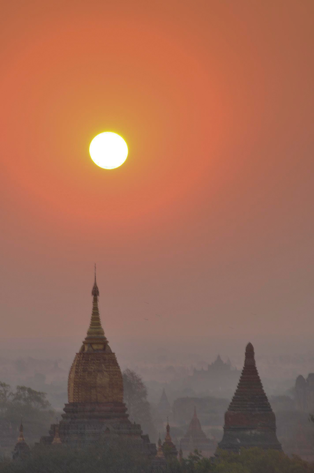 Sunrise over Old Bagan, Myanmar