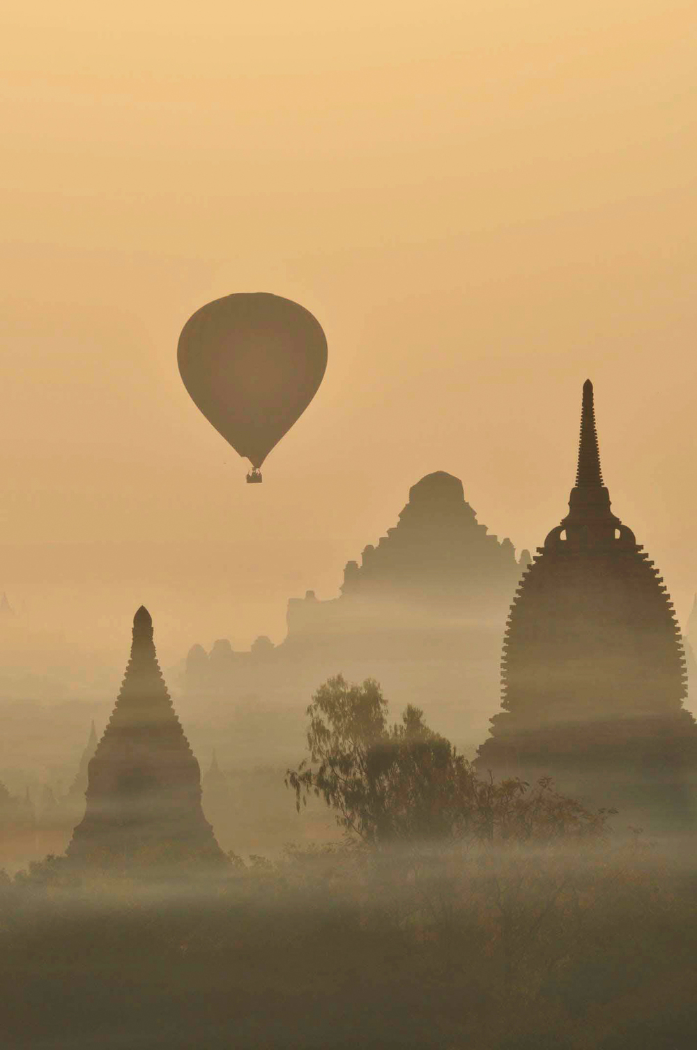 Balloons over Old Bagan, Myanmar