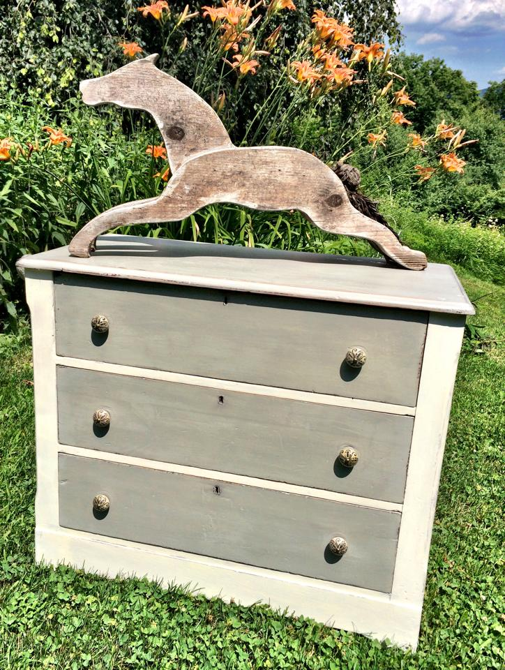 Wooden Horse on Dresser