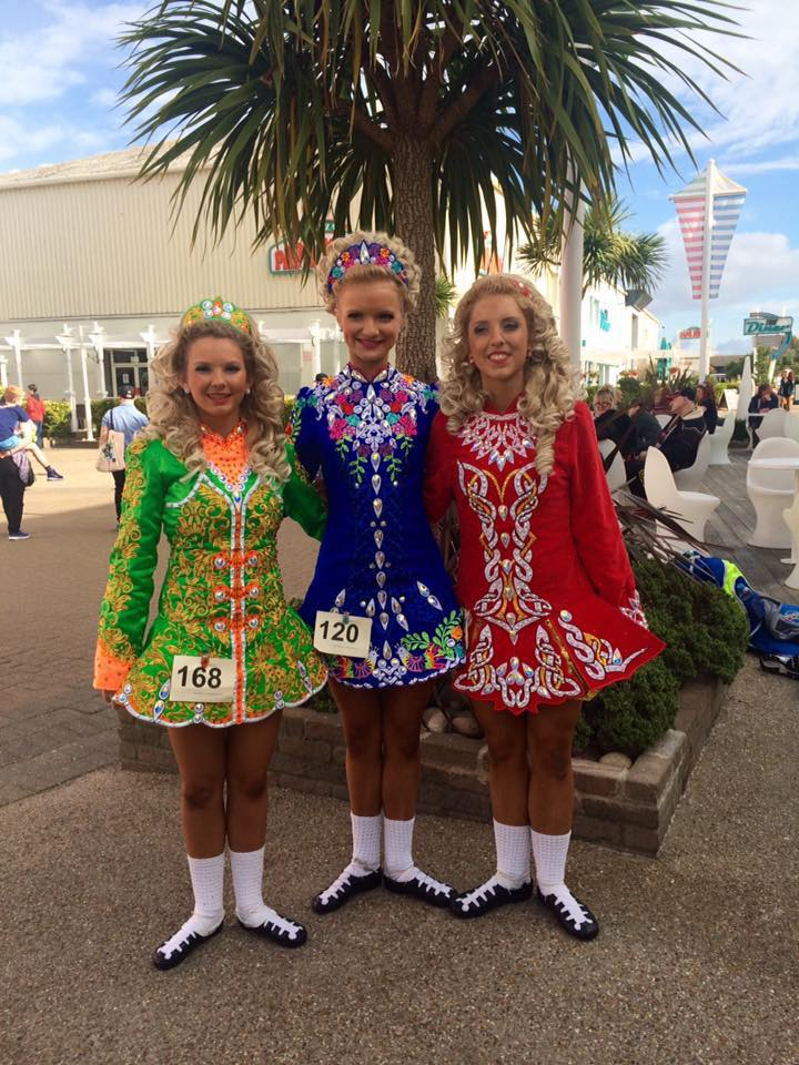 An Clar Irish Dancers at the 2016 Great Britain Championships.