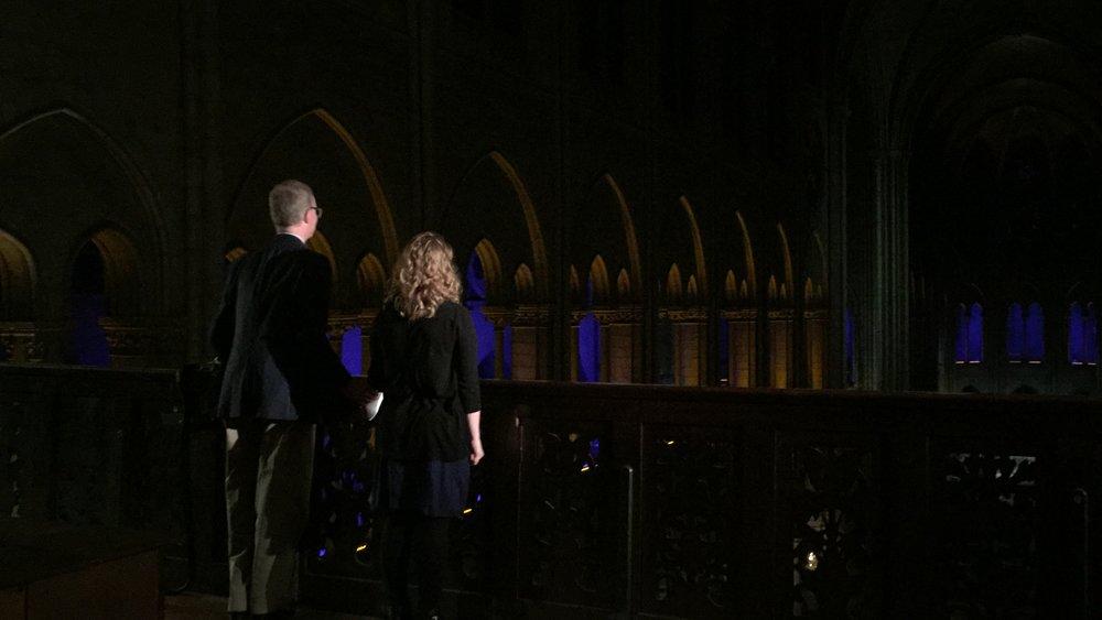 with Ross Wood at Notre-Dame de Paris - 2018