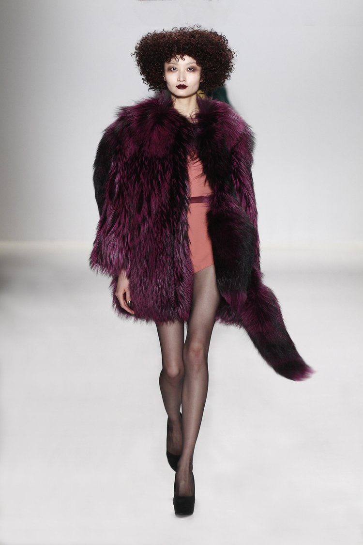 Amethyst rinsed silver fox chubby, Fall 2015-Winter 2016. See all under collaborations at JonevonFurs.com