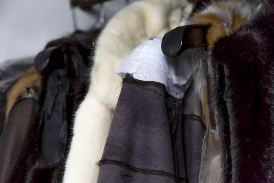 Assorted coats for remodeling, restyling and repairs. © Jonevon Furs, New York City. 212-714-0645