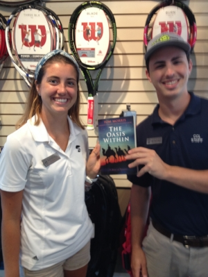 Kendall and Matt, ruling their tennis center and finding inner calm with The book, The Oasis Within.