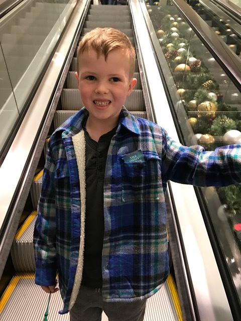 Check out the shirt pocket of the young man on the escalator in Philly. He grabbed the card from his dad's car. Never too young to start cultivating The Oasis Within.