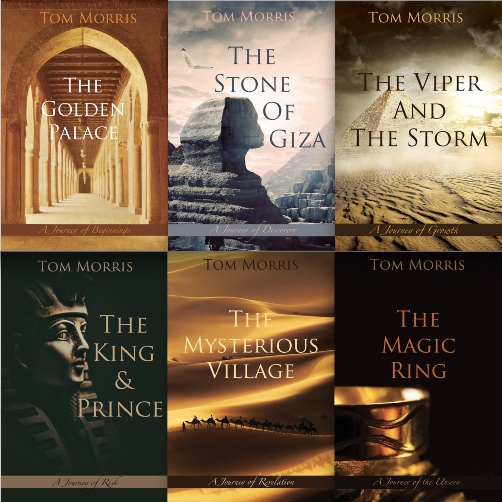 The Oasis Within serves as a prologue to a seven book series. those books are now available at Amazon and elsewhere! The first six are pictured here.