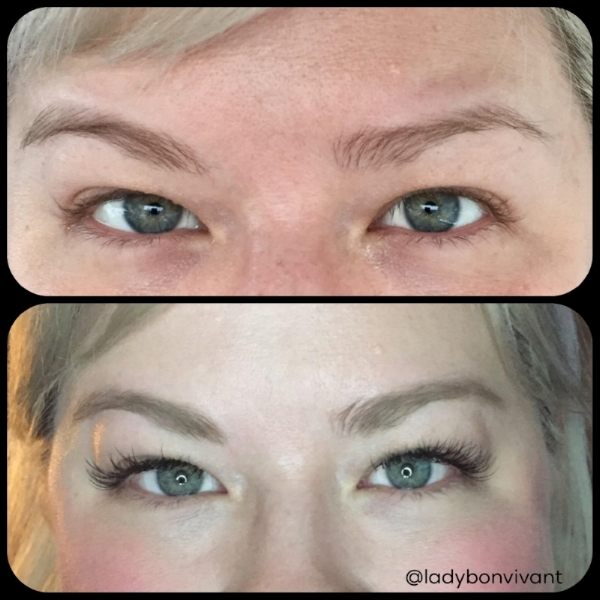 Weird lashes before, beautiful lashes after. Thank you, Kristyn!