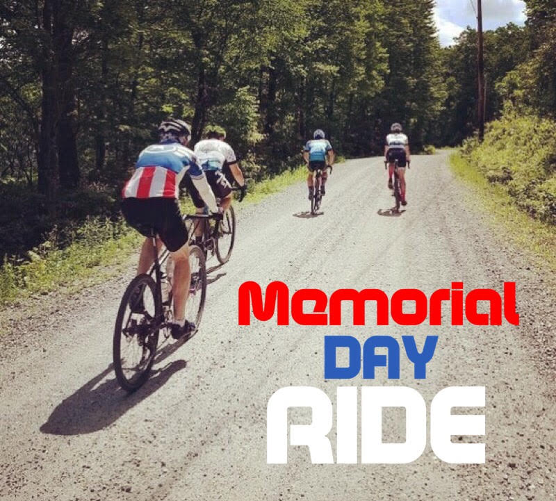 CANCELED. Due to imminent arrival of tropical storm Alberto and likelihood of heavy rains during the ride, we regretfully cancel the Memorial Day gravel ride. We will look forward to scheduling another gravel ride soon!