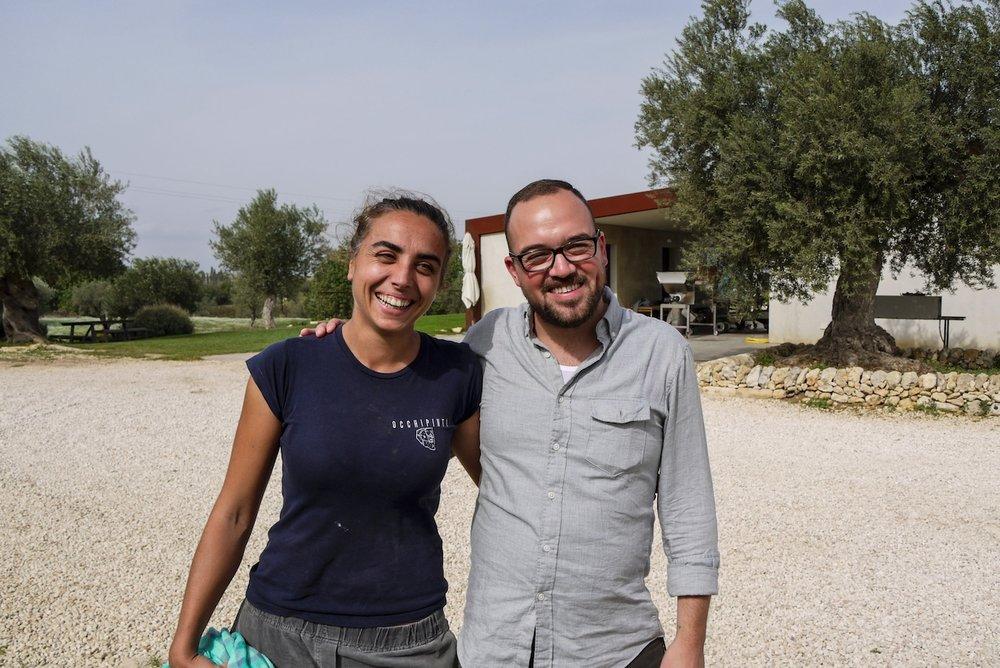 Arianna Occhipinti & Kevin Hart Harvest 2016 Vittoria, Italy