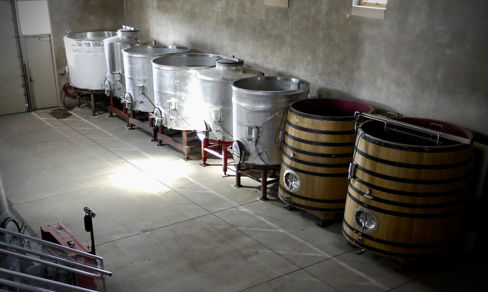 The fermentation room at Littorai Winery in Sonoma.