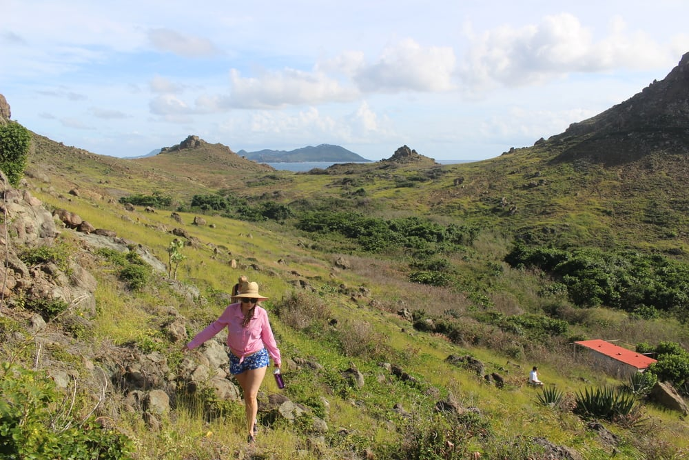 // Ile Fourchue →<p>Just north of St. Barths, a picturesque village, steep cliffs and excellent hiking make this small island a stunning stop.</p>