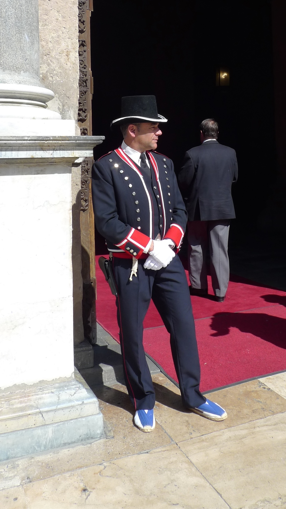 Guard at Palau de la Generalitat