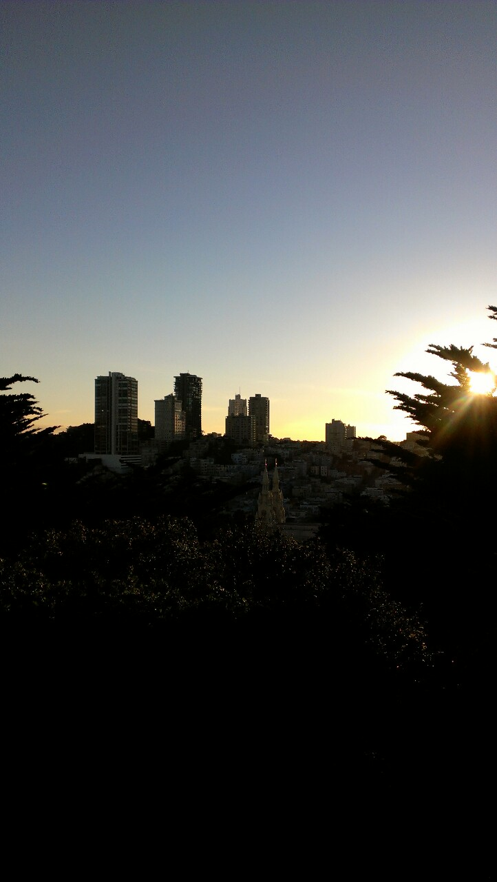 Sunset over San Francisco from Telegraph Hill