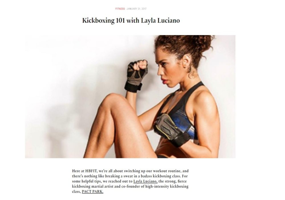 Kickboxing 101 with Layla Luciano for HBFit -