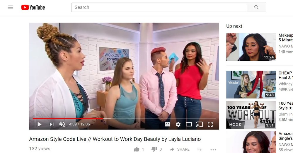 Amazon Style Code Live - Workout to Work Day Beauty by Layla Luciano