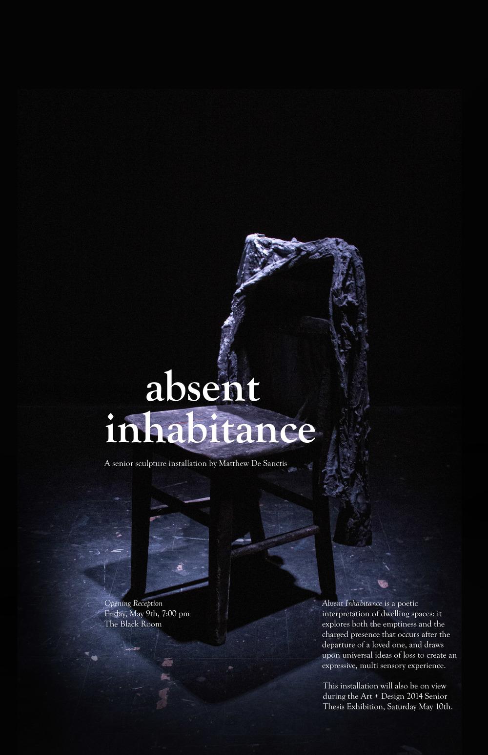 Absent Inhabitance Poster, 2014