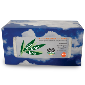 175 sheet Bim Bam Boo Facial Tissue