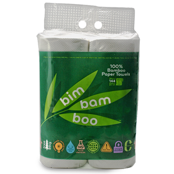 4 roll Bim Bam Boo Paper Towels