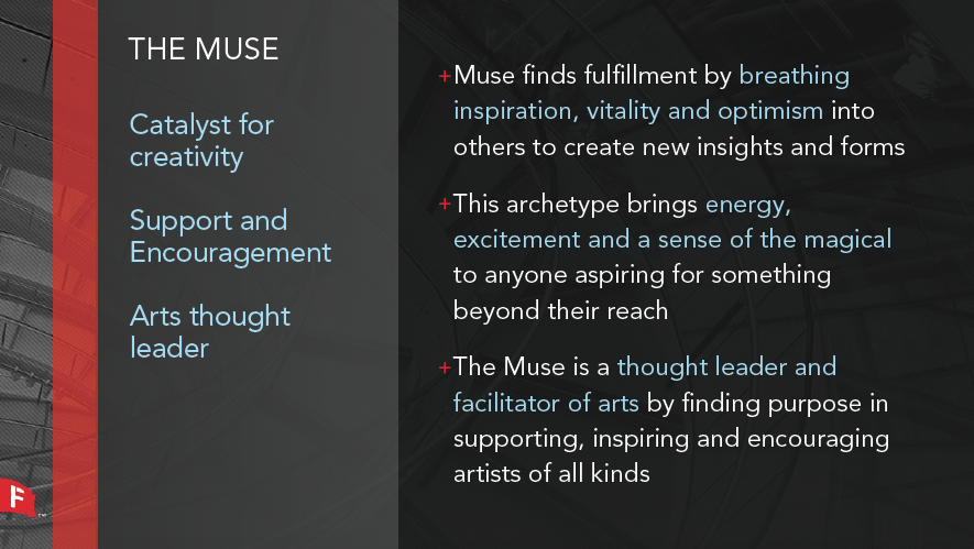 The characteristics of the Muse, especially as they relate to DCPA.