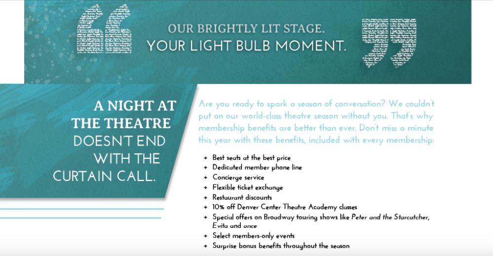 Intro on the DCPA Theatre Company 2013-14 Brochure. Click or tap the image above to see the entire brochure.