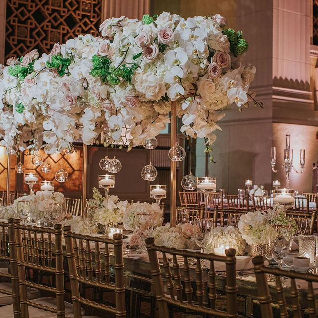 Beautiful wedding design by @butterflyfloral photography by @dmitry_shumanev rentals by @palacepartyrental  #eventspace #weddings #weddingvenue #losangeleswedding #eventdesign #eventrentals #floral