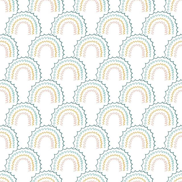 Eletric Rainbow pattern #white #rainbows #eletric #illustration #seamlesspattern #designerbyheart