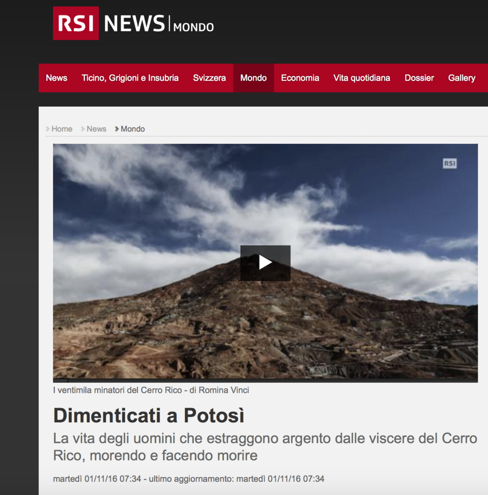 RSI - Radio Televisione Svizzera - November 2016