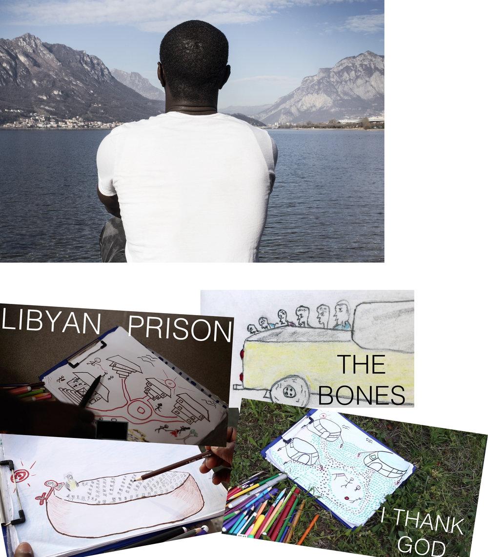 """The True Journey - Il seminario ripercorre la storia di Lamin, un ragazzo del Gambia che da un anno e mezzo vive in Italia con la speranza di ottenere lo status da rifugiato.Non è mai andato a scuola, Lamin, in Gambia lavorava come autista. Un pomeriggio, nel centro di prima accoglienza nel quale ha trascorso i suoi primi mesi in Italia, ha trovato fogli e matite colorate, e ha iniziato a disegnare le tappe del suo viaggio: il deserto del Sahara, i mesi interminabili nelle prigioni governative della Libia e il clima di terrore che si respirava in città.Racconta inoltre della traversata sui barconi e della sua condizione di richiedente asilo in un campo profughi di Lecco.Lamin non vuole mostrare il suo volto in video, teme per l'incolumità della sua famiglia. Ma vuole far arrivare il suo messaggio: mostrare """"il vero viaggio"""" di un migrante. Nasce così il web documentario The True Journey.Nel corso dell'incontro verranno esposti i disegni di Lamin e alcune foto di Romina Vinci, tratte dal progetto"""