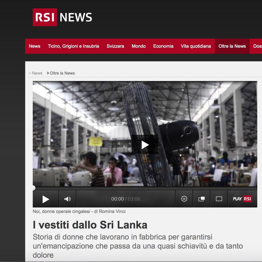 RSI - Radio Televisione Svizzera - September 2017